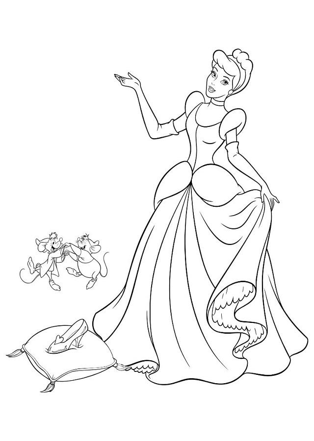 dibujo-para-colorear-la-zapatilla-de-cristal