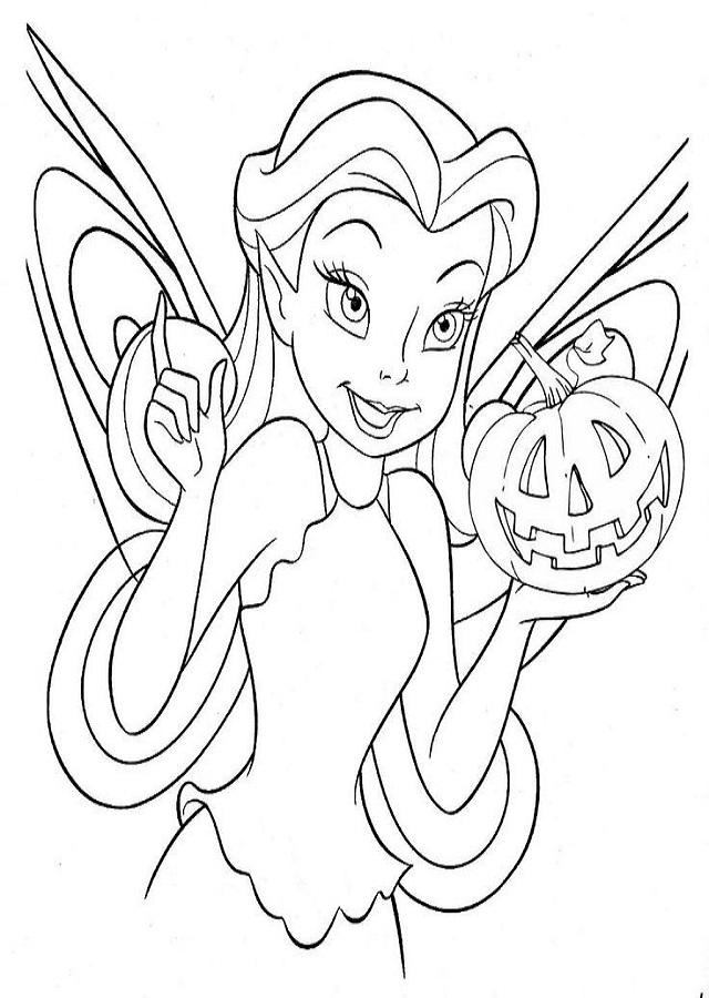 hada disney para colorear Halloween