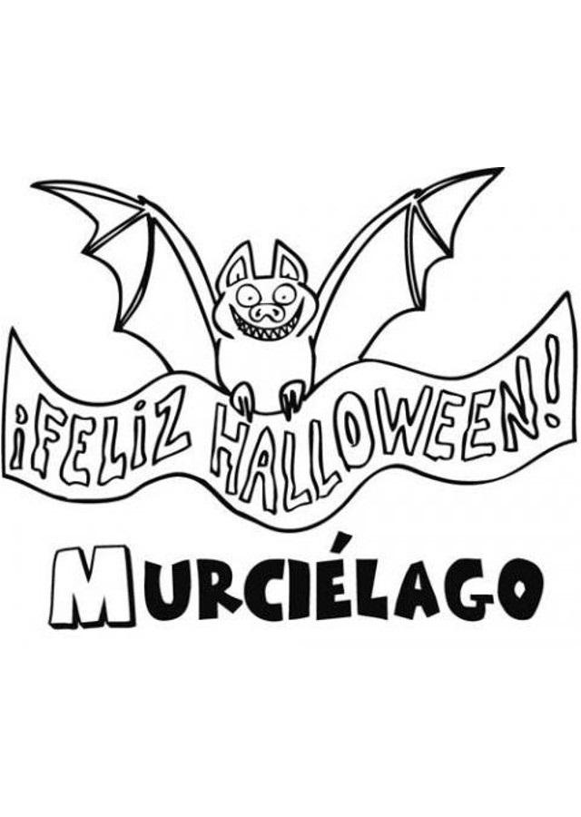 dibujo murcielago feliz halloween