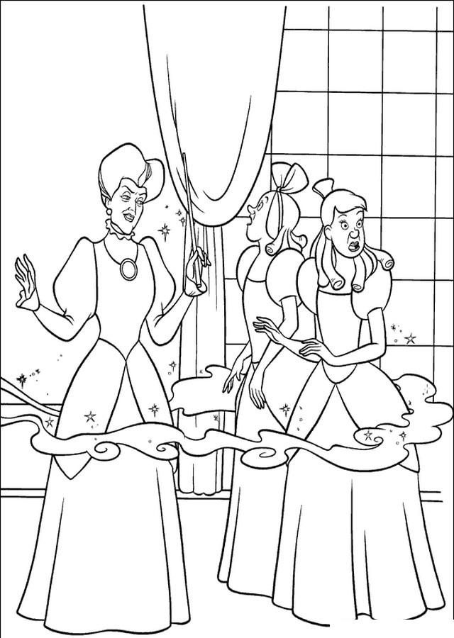 dibujos-para-colorear-cenicienta-baile