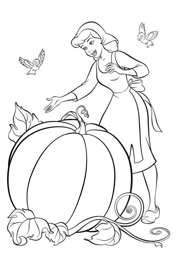 dibujos-para-colorear-de-la-cenicienta-calabaza