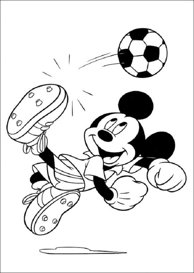 mickey-futbol - Dibujos para colorear