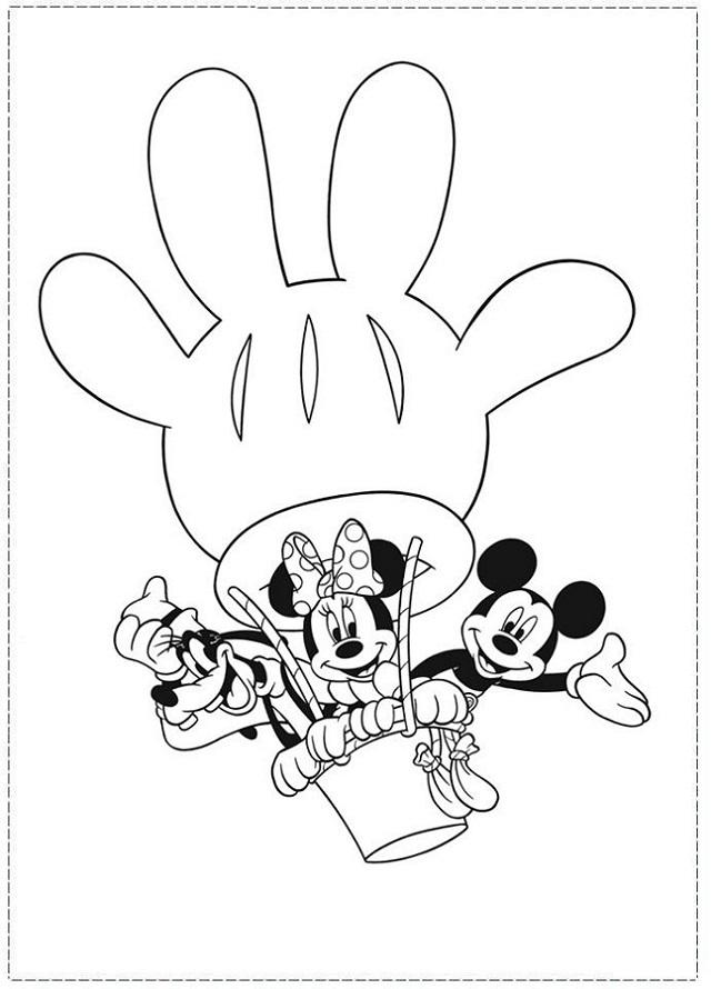 Dibujos De Mickey Minnie Pato Donald Dibujos Para Colorear