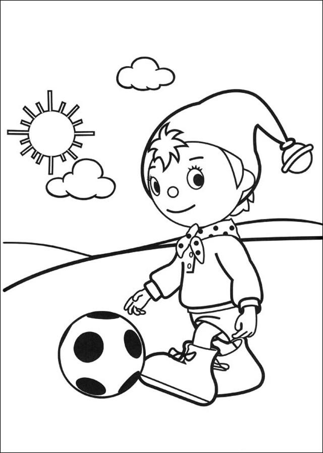 noddy-jugando-al-balon-para-colorear