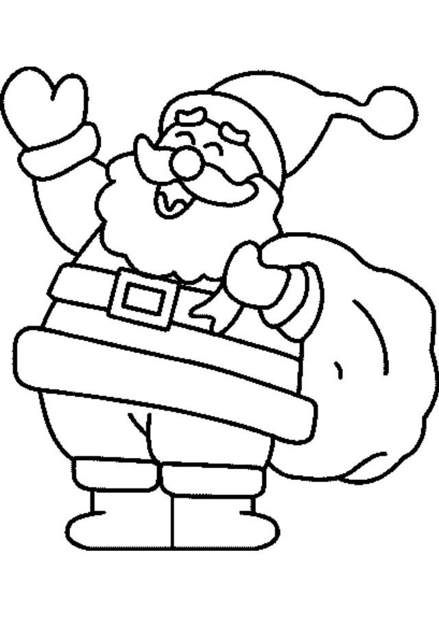 💠Dibujos de Papa Noel - Dibujos para colorear