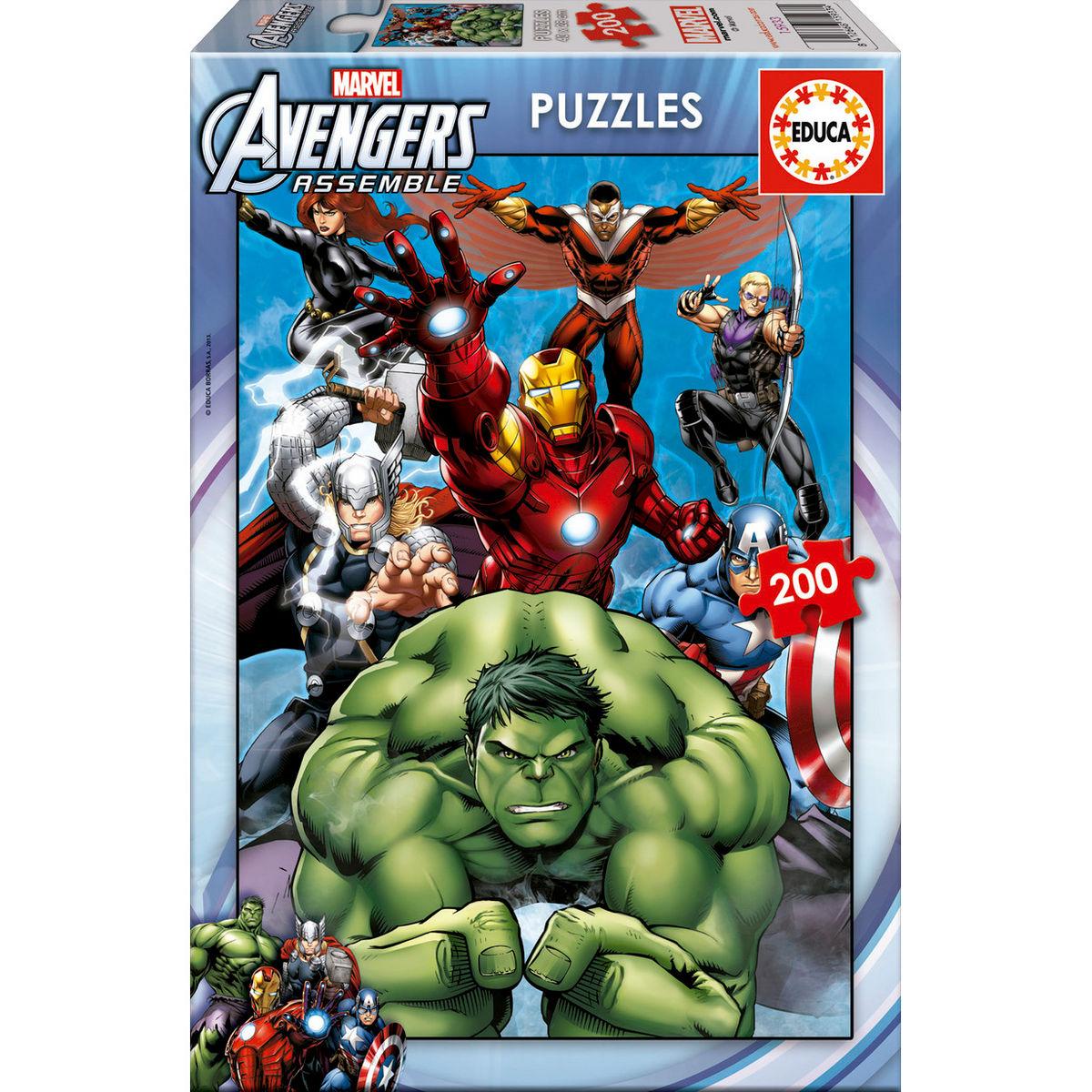 ✅Comprar Puzzle Vengadores Avengers Marvel 200 - Dibujos para colorear