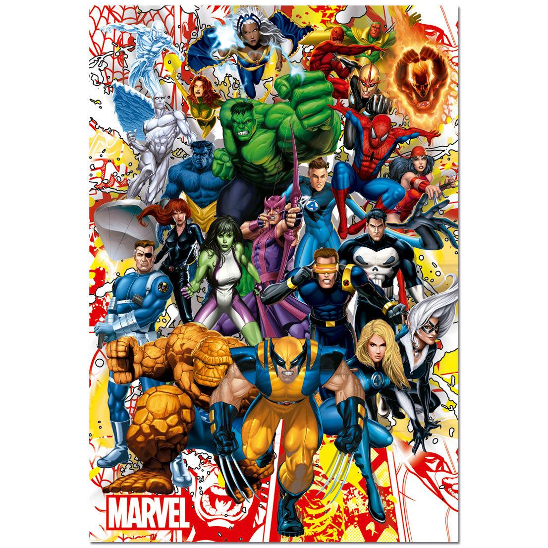 ✅Comprar Puzzle Superheroes Marvel 500 - Dibujos para colorear