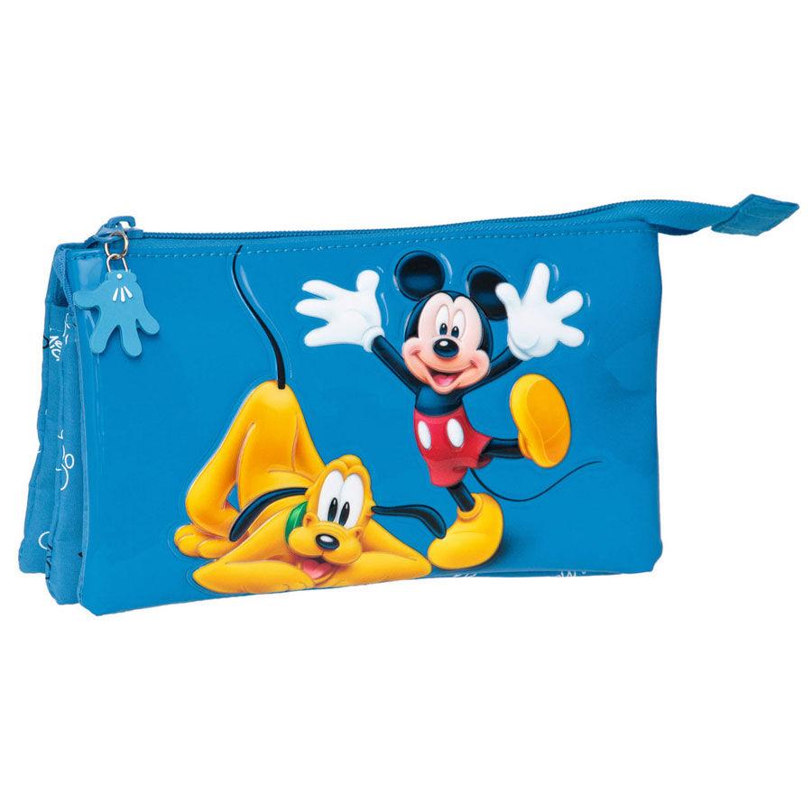 ✅Comprar Neceser Mickey & Pluto Disney triple - Dibujos para colorear