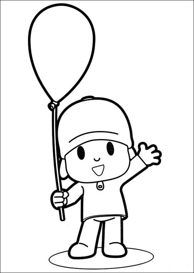 imagenes-de-pocoyo-para-pintar-cumpleaños - Dibujos para colorear