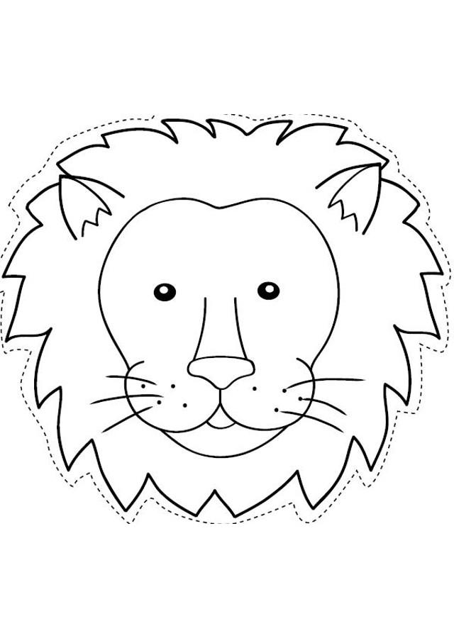 ▷Caras de animales   Dibujos para colorear