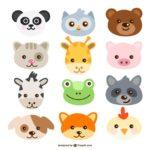 Caras de animales para pintar
