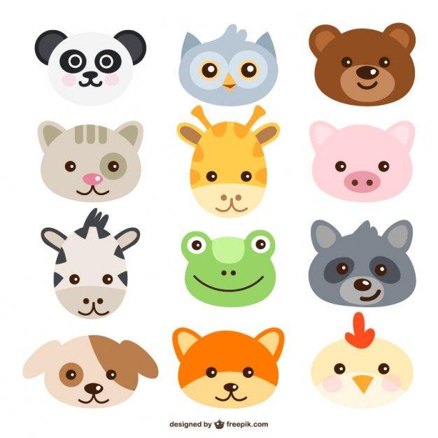 Caras De Animales Dibujos Para Colorear