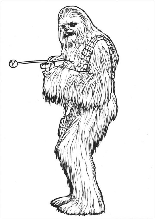 personaje Chewbacca con pistola Star Wars