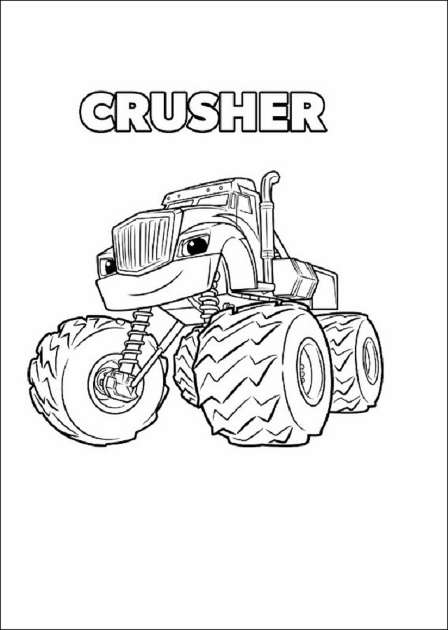 Dibujos Para Colorear Blaze Monster Machines