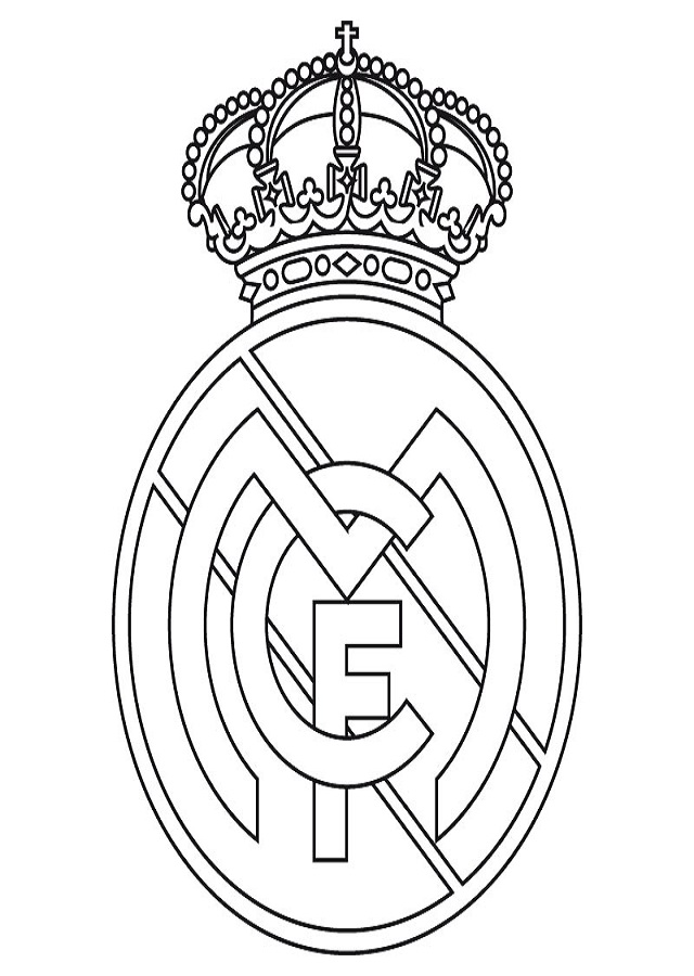 dibujo para colorear escudo real madrid