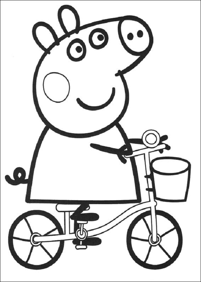 Peppa pig - Dibujos para colorear