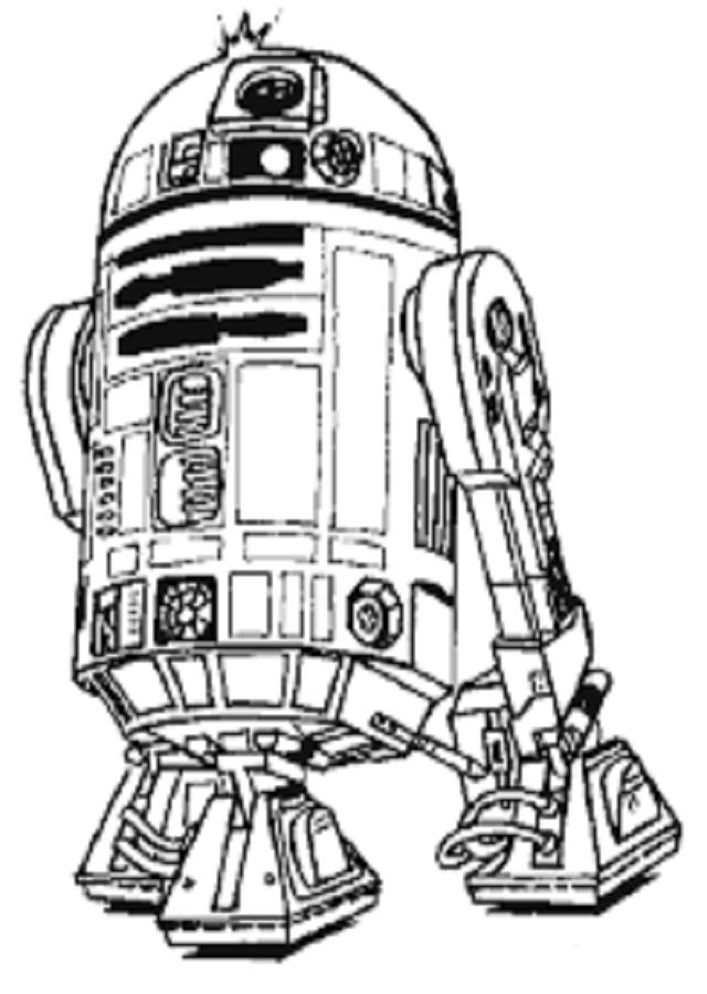 imagen para colorear Star Wars