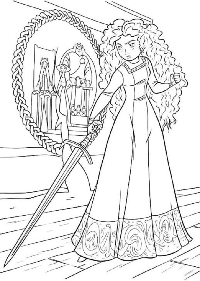 Apasionada y valiente, Merida es una adolescente de ascendencia real que lucha por tener el control de su destino. Se siente a gusto al aire libre, perfeccionando sus increíbles habilidades como arquera y espadachín, y montando en su fiel caballo, Angus, por los magníficos países de las colinas.