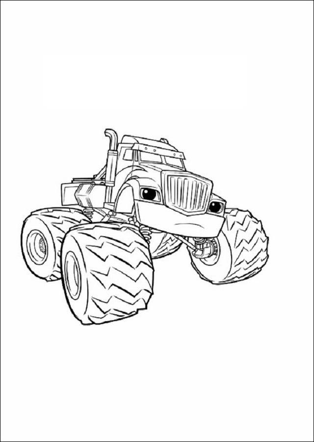 Vistoso Dibujos Para Colorear Gratis Carro Monstruo ...