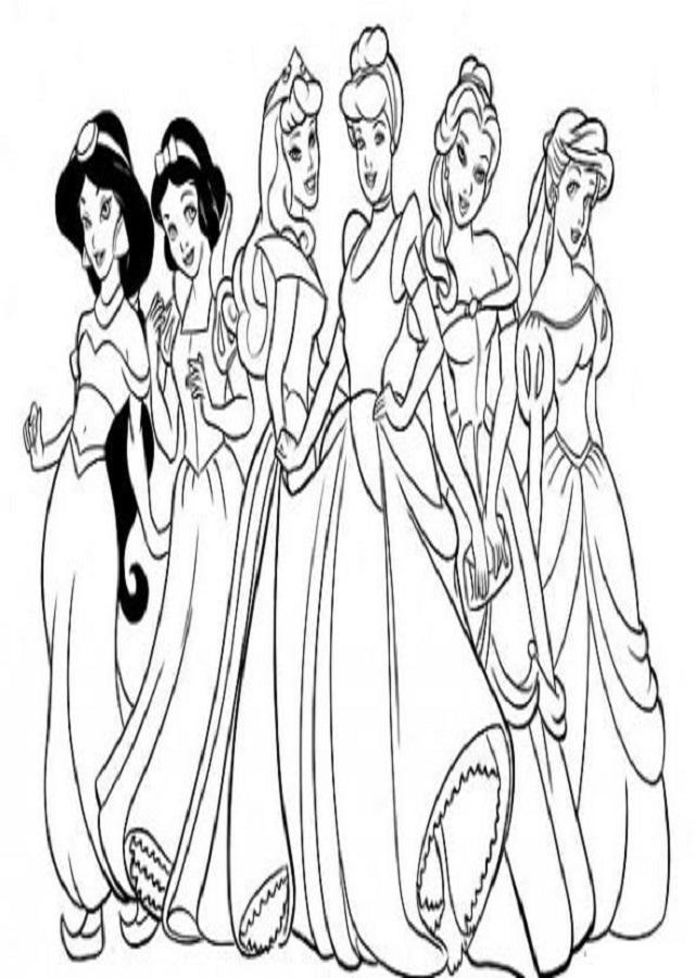 imagen para colorear princesas disney