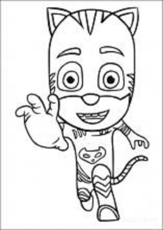 imagen para colorear gatuno PJ Mask