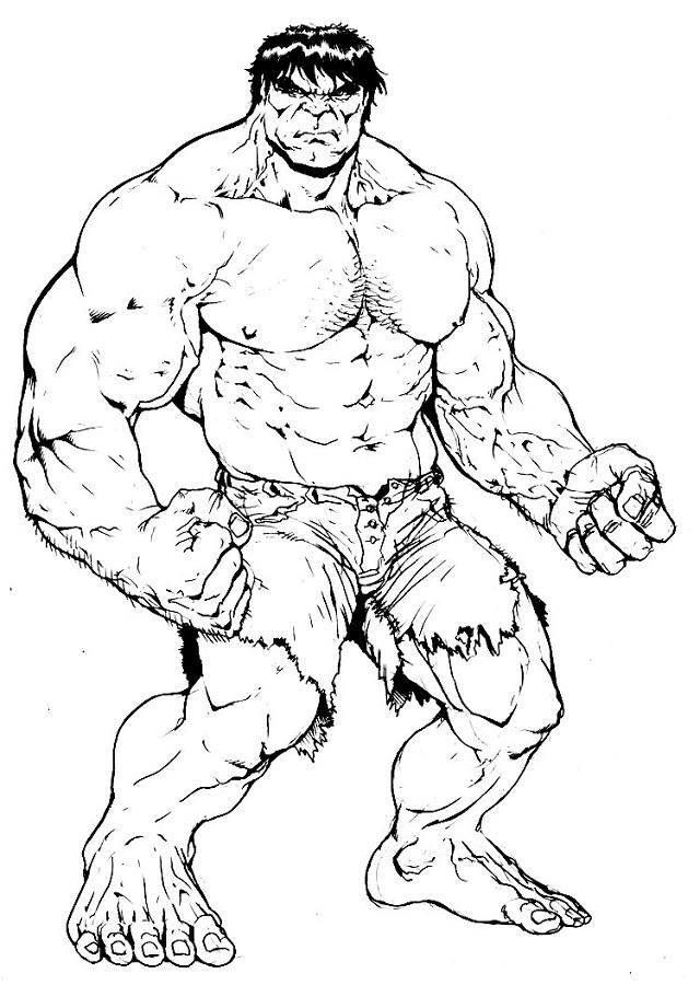 imagen para pintar de hulk