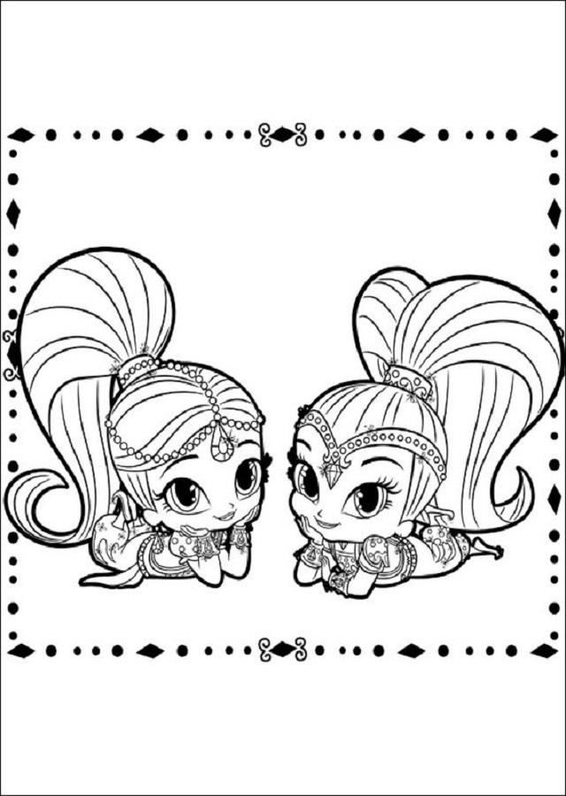 💠Dibujos Shimmer y Shine - Dibujos para colorear