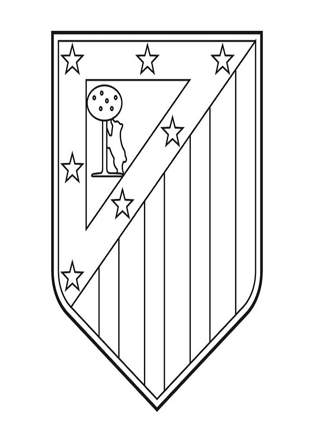 imagen para pintar del escudo de atletico de madrid