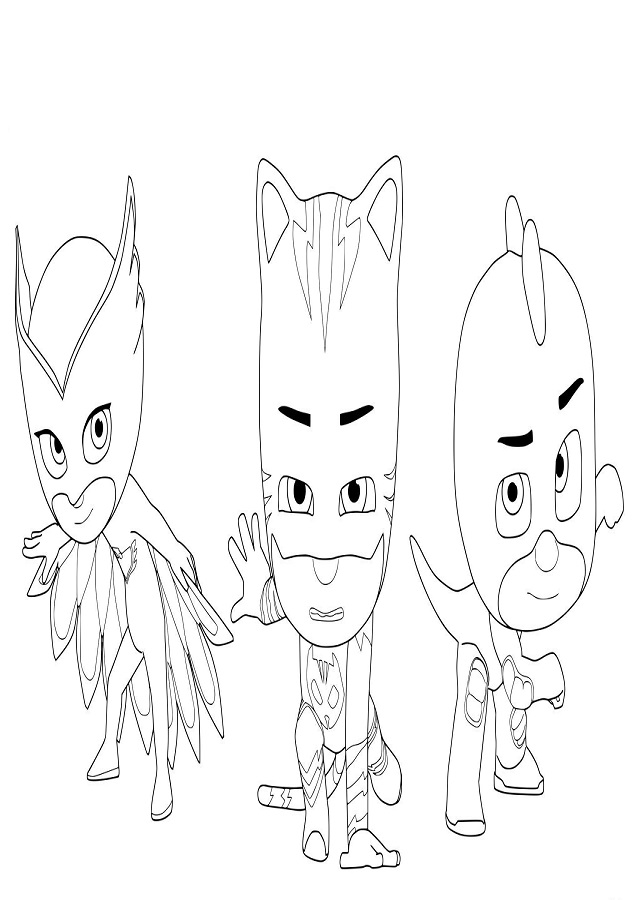 Dibujos Colorear Pj Masks Dibujos Para Colorear