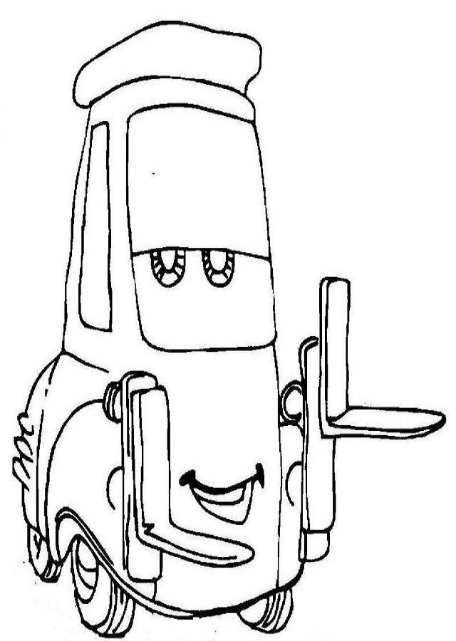 dibujo para colorear guido cars