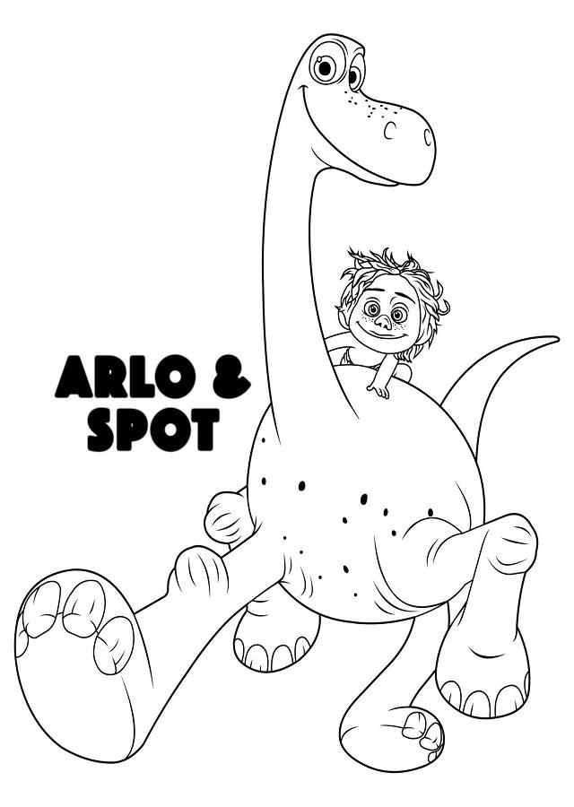 dibujo para colorear Arlo y Spot