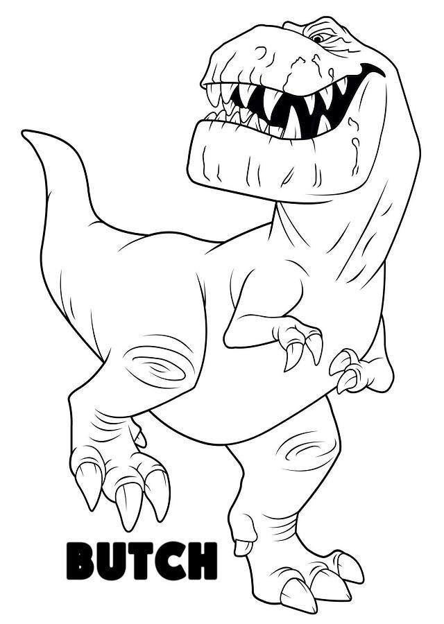 Butch es un Tyrannosaurus Rex robusto e intimidante, lo que se refleja en la horrible cicatriz que le cruza el rostro. Es un ranchero experimentado y un verdadero profesional a la hora de arrear ganado de cuernos largos. Butch alienta a sus hijos, Ramsey y Nash, a que aprendan mediante la acción y los empuja a una situación peligrosa detrás de otra. Lo que más disfruta Butch es compartir historias de batallas alrededor de una fogata al final de un largo día de trabajo