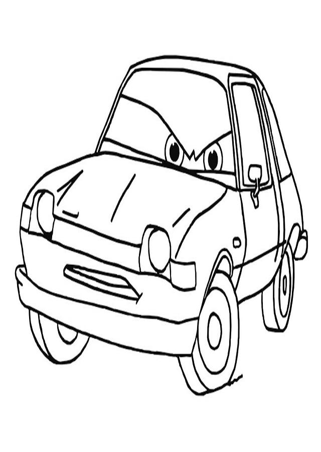 dibujo para colorear grem de los dibujos cars