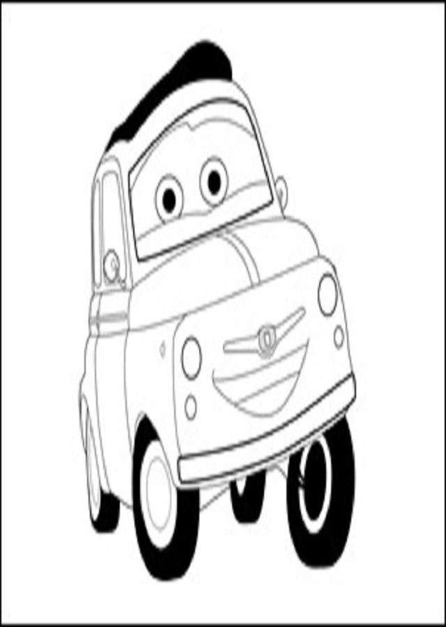 imagen para pintar luigi cars 2