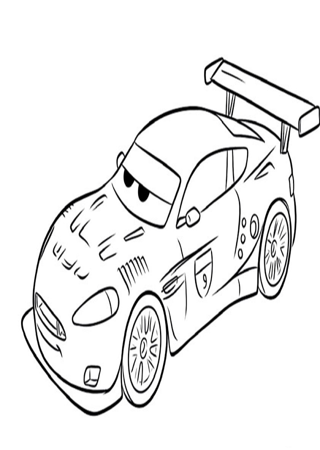 dibujo para colorear raoul cars