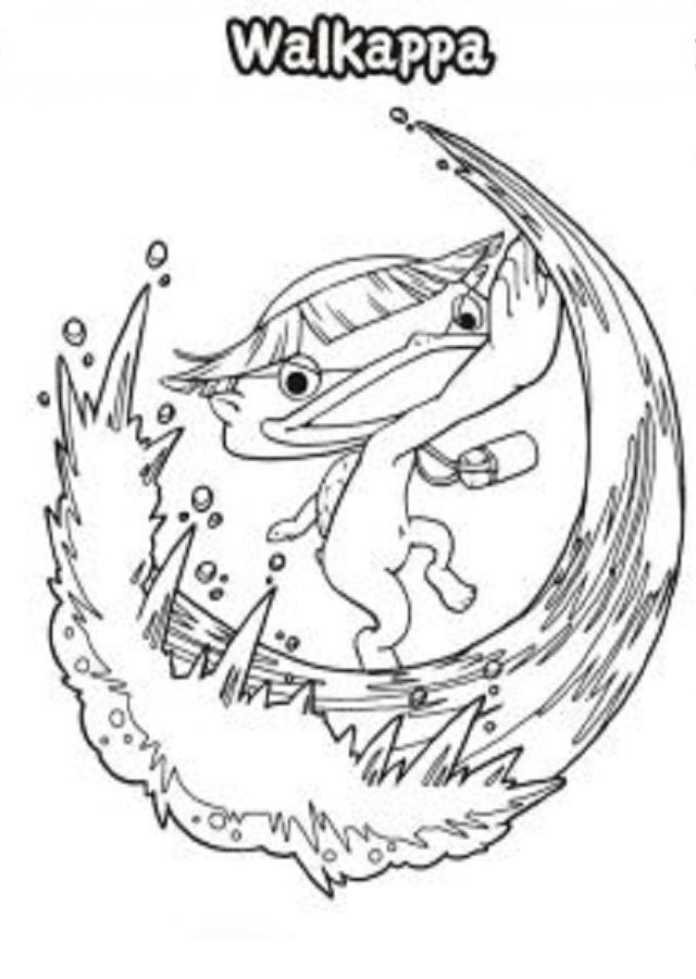 wallkappa-yo-kai-watch - Dibujos para colorear
