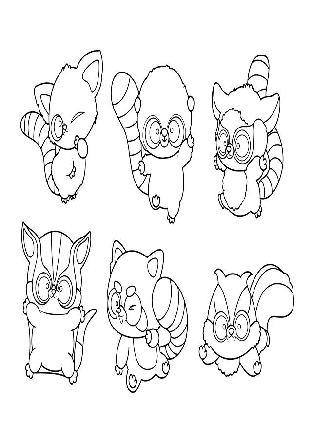 dibujo para colorear personajes yoohoo friends