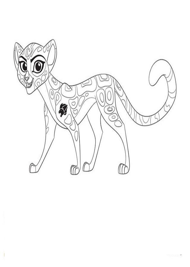 Gueparda amiga de Kion y el miembro más rápido de la Guardia del León
