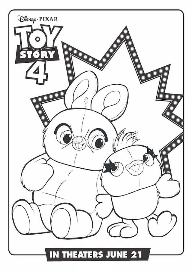 Toy-Story-4-dibujos-para-colorear-Ducky-and-Bunny
