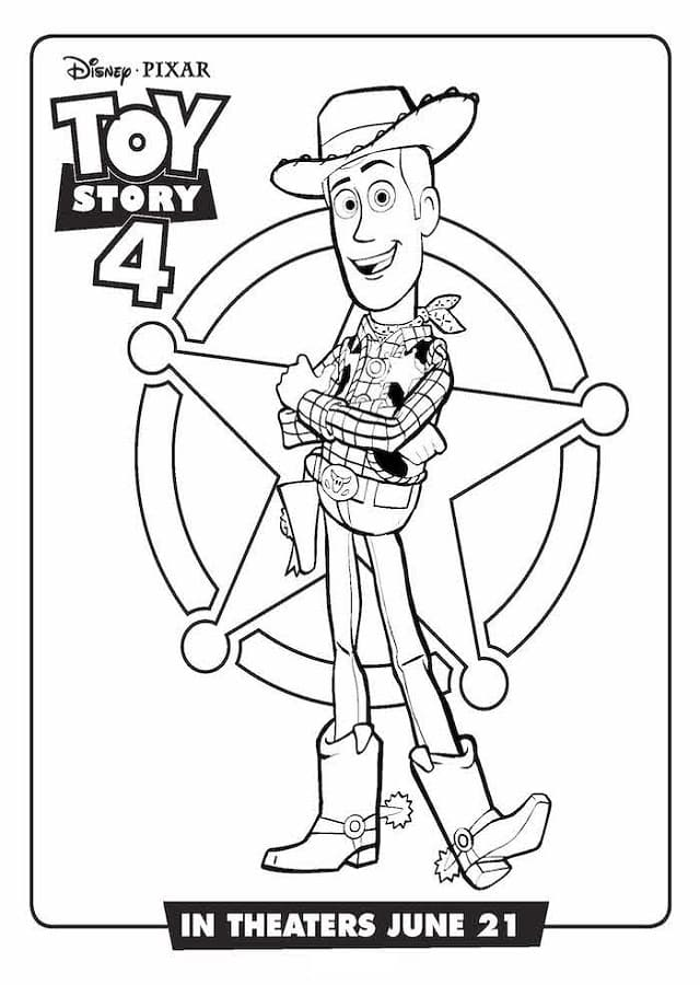 dibujos para colorear toy story 4 woody