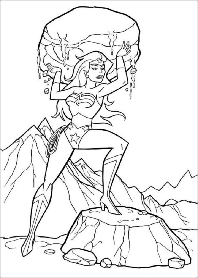 Wonder Woman dibujo para colorear