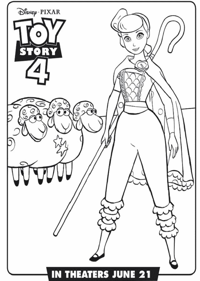 Dibujo para colorear betty toy story 4