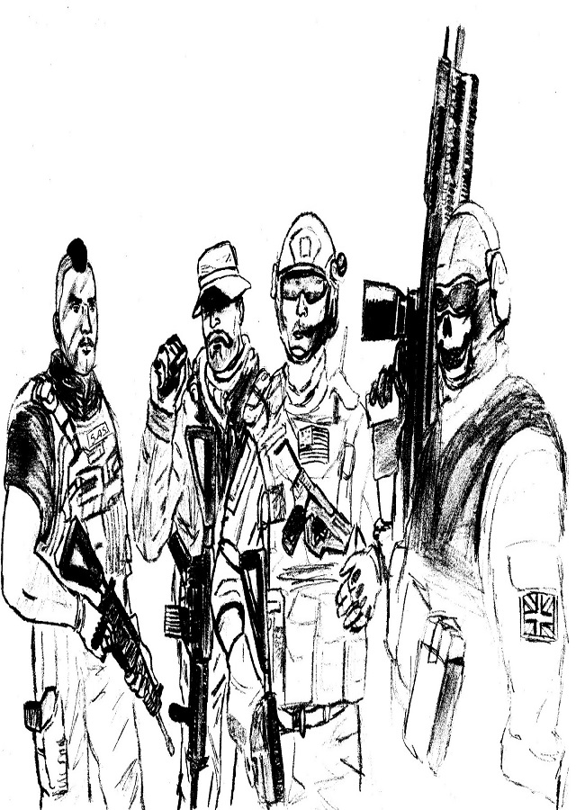 dibujo para colorear del videojuego call of duty