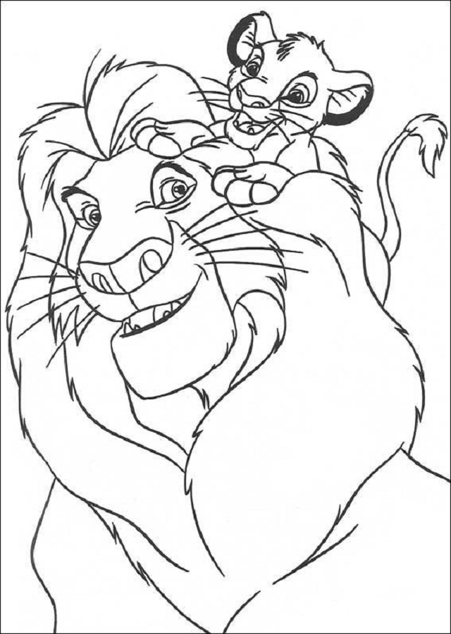 💠El rey Leon - Dibujos para colorear