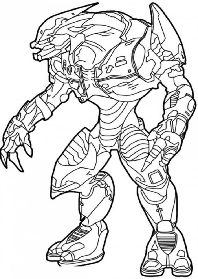 halo mega block coloring pages - photo#7