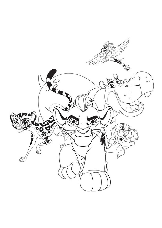 El rey Leon  Dibujos para colorear