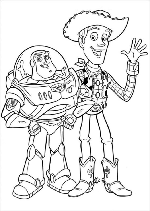 imagen para pintar toy story