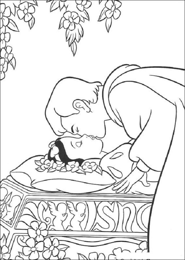 💠Blancanieves y los siete Enanitos - Dibujos para colorear