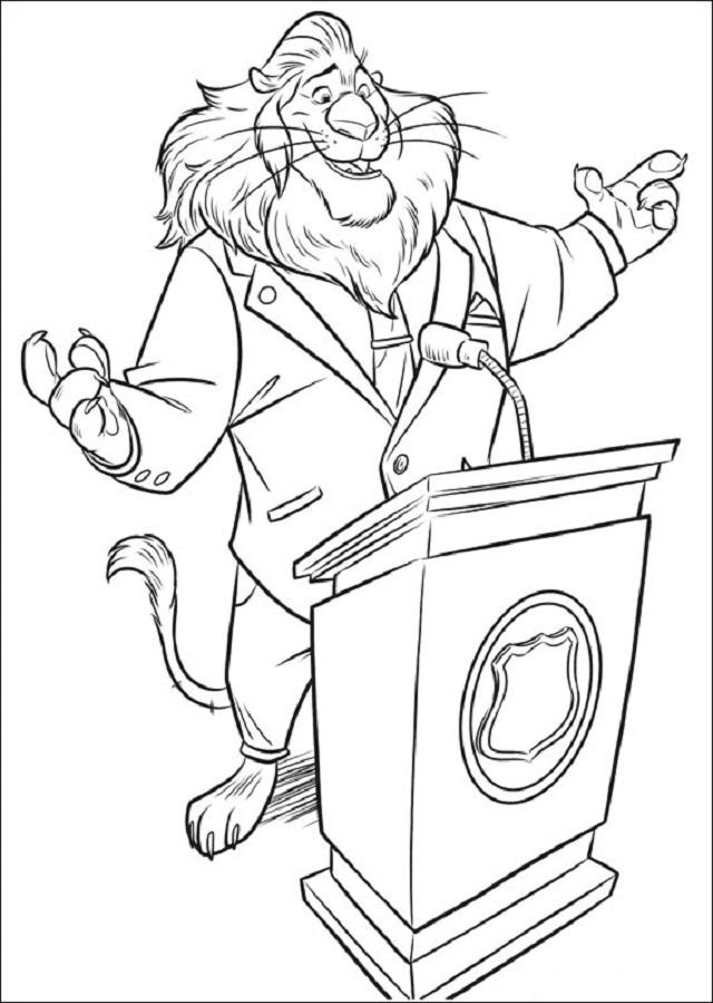 El alcalde de Zootrópolis gobierna bajo el lema de que cualquiera puede ser lo que se proponga. Como cualquier político, tiene carisma pero tiene mucho orgullo.