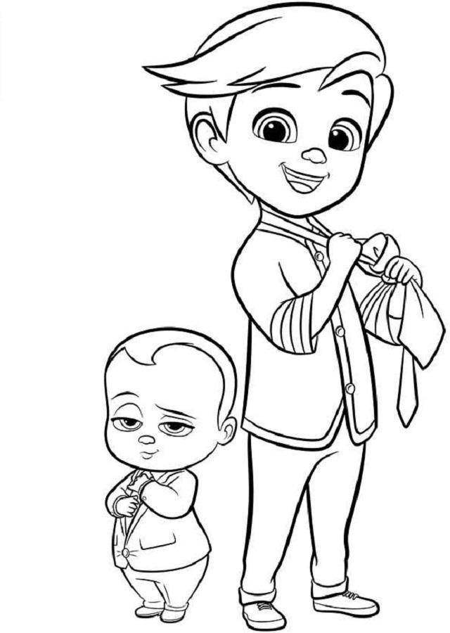 El Bebé Jefazo Dibujos Para Colorear